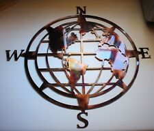 "Nautical COMPASS ROSE  34"" WALL ART DECOR WORLD GLOBE CENTER"