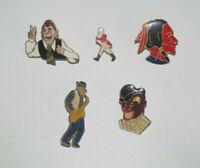 Lot de 5 Pin's + Attaches Thème Divers Personnages