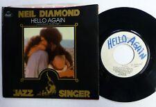 NEIL DIAMOND 45 Hello Again TEST PRESS promo PIC SLEEVE  Ct81