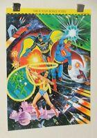 Original 1978 Superman Batman Wonder Woman 21x16 DC Comics JLA poster 1: 1970's