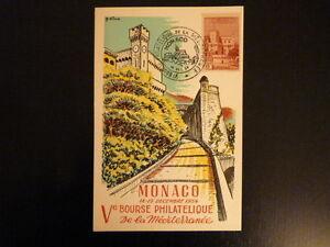 MONACO YVERT N° 310B PALAIS 8F BOURSE PHILATELIQUE 1954 ILLUSTRATION DE MINNE