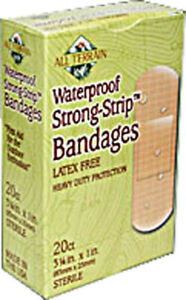 Strong Strip Bandages Latex Free by All Terrain, 20 piece