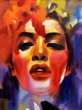 Original painting - PORTRAIT  Jill Williamson - Stretched 90x120 cm