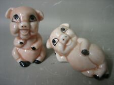 Pair lovely piggy figurines