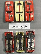 3pc 1960s Hong Kong Kader 1964 Chevy Corvette Coupe +2Aston Martins Slot Car 545