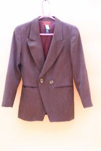 Kenzo Paris Jacket Vintage 80s 90s Brown Wool Size 38