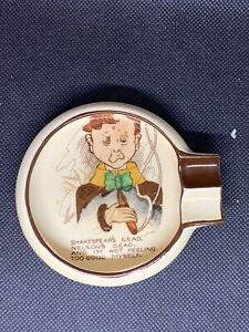 Vintage Carlton Ware Comical Theme Ashtray Shakespear's Dead. RARE.  England