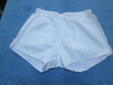 "True vintage German white cotton army PT shorts, D7, 36"""
