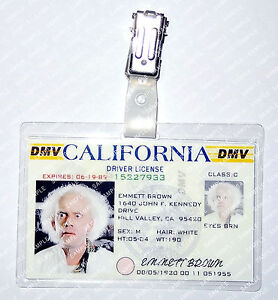 Back To The Future Emmett Brown DL Cosplay Prop Costume Comic Con Halloween