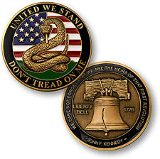 United We Stand Don't Tread On Me Liberty Bell Challenge Coin NEW