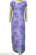 Alyn PaigeJunior Ladies Purple Floral Print Long Chiffon Sundress Small $48