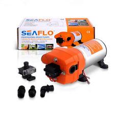 High Pressure Seaflo Water Diaphrgam Pump 40 PSI 4.5 GPM Fittings Replace Flojet