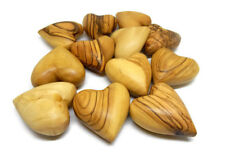 12 Hearts Solid Olive Wood Carved Ornaments Table Decoration Valentines Comfort