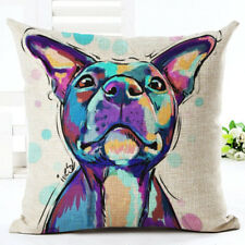 Staffordshire Bull Terrier Staffy - Watercolour Dog Cushion Cover Home Decor UK