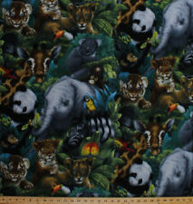 A Rare Occasion Baby Animals Jungle Safari Elephants Fleece Fabric Print A330.09