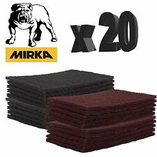 Mirka Mirlon Abrasive Finishing Pads Scotch Brite Ultra/Very Fine Grey/Red x 20