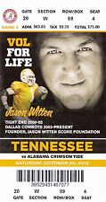 2012 TENNESSEE VOLS VOLUNTEERS VS ALABAMA CRIMSON TIDE TICKET STUB 10/20 WITTEN