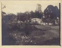 Pueblo A Identificar Iglesia Francia Vintage Analógica Aprox 1900