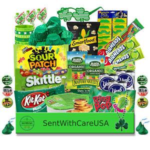 St Patricks Day Gift Box + Personalized Card | St Patricks Day Snack Candy Kit