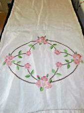 Linen Embroidery Antique Cushions/Seat Covers