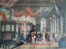 Origial Édouard Pingret lithograph Retour Du Roi A La Station De Gosport, 1850'