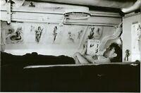 WW II  Usa  Photo --  Sailor With His Pin Up Girls - USS Capelin  Submarine