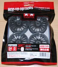 Tamiya 54738 Medium-Narrow 18-Spoke Wheels (24mm Width, Offset 0) (Hard) 4 Pcs.