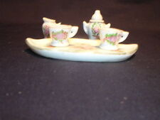Pico Made in Occupied Japan Miniature Tea Set White and Flowers - Free Ship
