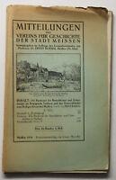 Boehm Mitteilungen des Vereins für Geschichte der Stadt Meissen 1918 Bd 10 sf