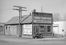 "1940 Rodeo Headquarters, Springerville, Arizona Old Photo 13"" x 19"" Reprint"