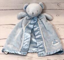 Carters Blue Bear Thank Heaven For Little Boys Baby Security Blanket Lovey Satin