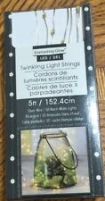 Everlasting Glow Micro Led Twinkling String Lights 30 Warm White Lights Battery