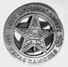 TEXAS RANGERS CO B  BADGE PESO BACK SOLDERED PIN Walker Texas Ranger