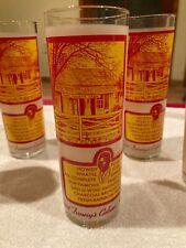 New listing Set of 6 Vintage Aunt Fanny's Cabin's Frosted Mint Julip Glasses