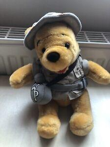 Disneyland Walt Disney World Safari Winnie The Pooh Soft Toy Plush Teddy Gift