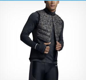 🔥 Nike Aeroloft GOOSE DOWN 800 Reflective Running Vest 800501 010 SZ S M XL🔥