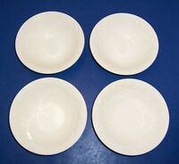 "International Tableworks Devonshire 4 White Cereal Bowls (6.5"") Embossed England"