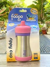 THERMOS FOOGO 10oz. Insulated Stainless Steel Sippy Cup (Pink/Purple)