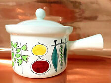 LARGE Rorstrand Sweden Picknick HandPainted Ovenware Lidded Handled Pot 6in Tall
