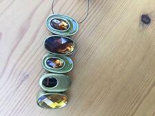 unusual Gold & amber tone stretch bracelet