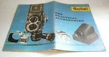 Rollei Rolleiflex TLR The practical accessories 2.8 3.5 brochure 1960