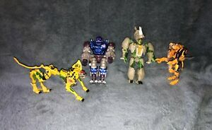 HASBRO Transformers Beast Wars Rhinox, 2 Cheetor, Optimus Action Figures Toys