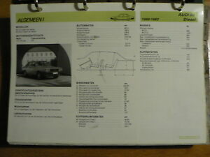 AUDI 80 DIESEL 1980-82 INFO TECHNICAL INFORMATION CAR AUTO OLY006