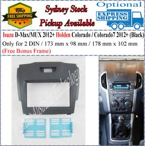 Fascia facia Fits Holden Colorado 2012+ Double Two 2 DIN Dash Kit