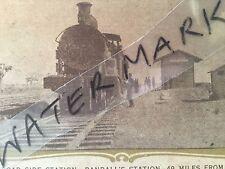 vintage photo postcard Randall's Station Kalgoorlie locomotive train railway