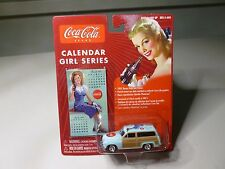 NEW JL COCA/COLA CALENDAR GIRL SERIES #4 '50 MERCURY WOODY DIECASTVEHICLE NEW