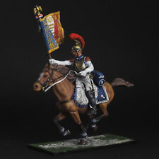 Tin soldier, French Carabiniers with the Standard Bearer, Napoleonic Wars, 54 mm