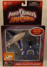 Power Rangers Ninja Storm - Ninja Hawk Mini Playset & Game Blue by Bandai (MISB)