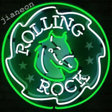 "24""X24"" New Rolling Rock Beer Bar Pub NEON SIGN LIGHT with Silkscreen Backing"