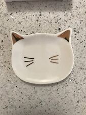 Cat Trinket Tray New In Box Gold Ears NWT $26 See Pics